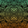 Aztec sunset seamless pattern Royalty Free Stock Images