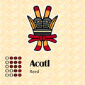 Aztec symbol acatl calendar symbols or reed Royalty Free Stock Photography