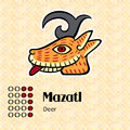 Aztec symbol mazatl calendar symbols or deer Stock Photo