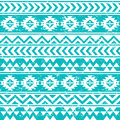 Aztec tribal seamless grunge white pattern on blue background vector ornament ethnic vuntage Royalty Free Stock Photography