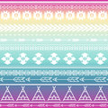 Aztec tribal seamless multicolor pattern background. Tribal design can be applied for invitations, fashion fabrics Royalty Free Stock Photo
