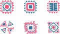 Aztec vector symbols from and pre columbian culture Royalty Free Stock Photos