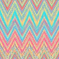 Aztec zigzag ethnic pattern in bright colors style can be used as seamless pattern or vector background Stock Image