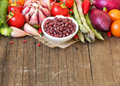 Azuki beans and vegetables Royalty Free Stock Photo