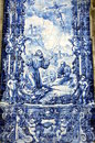 Azulejo depicting francis assisi Stock Images