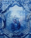 Azulejo or Tile decorated of the Sanctuary of Our Lady of Remedios in Lamego ,Portugal Royalty Free Stock Photo