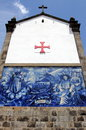 Azulejos on a church wall in Porto Stock Photography
