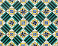 Azulejos old handpainted tiles at lisbon house on a facade called Royalty Free Stock Image