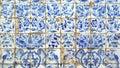 Azulejos portuguese tiles detail of some Stock Photo