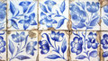 Azulejos portuguese tiles detail of some Royalty Free Stock Images