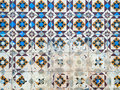 Azulejos traditional portuguese tiles ceramic Stock Images