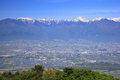 Azumino city and japan alps view of nagano Stock Photo