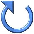 Azure circular för pil 3d Arkivfoto
