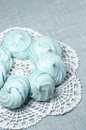 Azure homemade meringue cookies from series christmas and new year Royalty Free Stock Photo