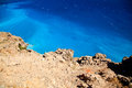 Azure lybian sea unbelievable color of with blue water Royalty Free Stock Photos