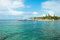 Azure ocean and palm trees on Hawaii Royalty Free Stock Photo