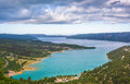 Azure Sainte Croix lake Royalty Free Stock Photo