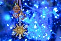 Azure snowflake Royalty Free Stock Images