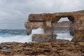 Azure window famous stone arch on gozo island malta Stock Image