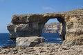 Azure window famous stone arch on gozo island malta Royalty Free Stock Image