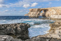 Azure Window in Gozo Island, Malta. Stock Images