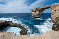 Azure window in gozo malta famous natural arch Stock Images