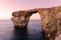 Azure window gozo malta sunset over the in dwejra Stock Images