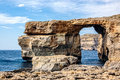 Azure window in malta the famous Stock Photo