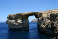 Azure window in malta natural formation Royalty Free Stock Photography