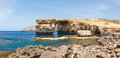 Azure window stone arch of gozo malta famous island in the sun in summer Royalty Free Stock Photography