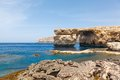 Azure window stone arch of gozo malta famous island in the sun in summer Stock Photo