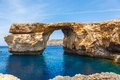 Azure window stone arch of gozo malta famous island in the sun in summer Royalty Free Stock Image
