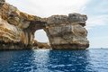 Azure window stone arch of gozo malta famous island in the sun in summer Stock Photography