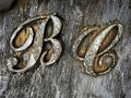 B C Wooden Sign in AL Royalty Free Stock Photo