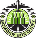 B-17 Heavy Bomber Beer Bottle Brewery Retro Royalty Free Stock Photo