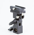 B type universal hot flash shoe umbrella holder swivel light stand bracket dslr Royalty Free Stock Photo