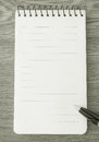 B w note paper pen on Royalty Free Stock Photography