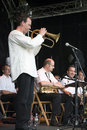 B3 Jazz Orchestra at the Montreux Jazz Festival Royalty Free Stock Photo