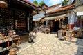Baščaršija market in sarajevo souvenir vendors the famous bosnia and herzegovina Royalty Free Stock Image