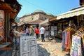 Baščaršija market in sarajevo souvenir vendors the famous bosnia and herzegovina Stock Photography