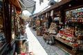 Baščaršija market in sarajevo souvenir vendors the famous bosnia and herzegovina Royalty Free Stock Images