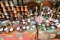 Baščaršija market in sarajevo cups for coffee made of copper the famous bosnia and herzegovina Stock Photo
