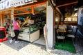 Baščaršija market in sarajevo ice cream vendor the famous bosnia and herzegovina Stock Images
