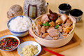 Ba kut teh malaysian stew of pork and herbal soup Royalty Free Stock Images