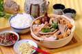 Ba kut teh malaysian stew of pork and herbal soup Royalty Free Stock Photography