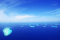 Baa Atoll Aerial Image Maldives Biosphere Royalty Free Stock Photo