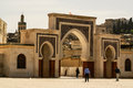 Bab Bou Jeloud gate (The Blue Gate) located at Fez, Morocco Royalty Free Stock Photo