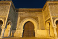Bab Jama en Nouar door at Meknes, Morocco Stock Photo