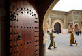 The Bab Mansour gate in Meknes, Morocco. Royalty Free Stock Photo