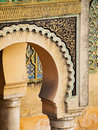 Bab Mansour in Meknes, Morocco Royalty Free Stock Photo